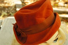 Vintage 40s-50s Women's Felt Fedora By Popular dry goods El Paso/Retro/Mid Century/High Fashion by SycamoreVintage on Etsy