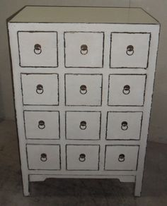 Chinese antique small cabinet 5 drawers chinese antique for Oriental reproduction furniture