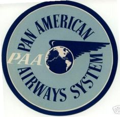 Pan Am Blue & White Luggage Label (1940s)