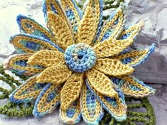 Handmade Crochet Flower Brooch $20 #brigteam @nothingbutstring #accessories