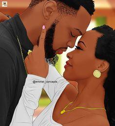 my sweet love. Sexy Black Art, Black Girl Art, Black Women Art, Black Girl Magic, Art Girl, African Love, African American Art, African Art, Black Love Artwork