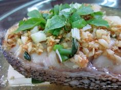 No-Frills Recipes ... cooking, baking & excerpts on travel: Basil steam fish