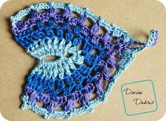 Kayla Barefoot Sandals Row 7... Free pattern! This pattern would even make a colorful pendant!