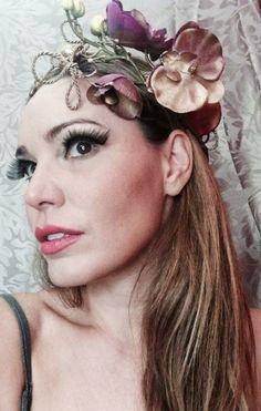 Coroa Floral. Modelo Mariana Agnelli.