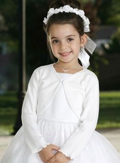 Flower Girl :: Beaded Bolero Cardigan - Princess Boutique - Flower girl, Page Boy, Communion & Special Occasion Wear