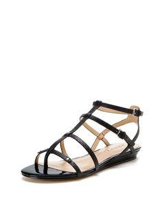 Demi Gladiator Mini Sliver Wedge Sandal by Renvy at Gilt