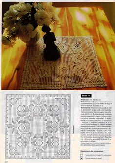 Home Decor Crochet Patterns Part 65 - Beautiful Crochet Patterns and Knitting Patterns Crochet Table Runner, Crochet Tablecloth, Crochet Doilies, Crochet Flower Patterns, Crochet Designs, Crochet Flowers, Knitting Patterns, Crochet Curtains, Crochet Cushions