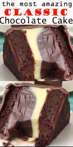 Classic chocolate cake – recipes & DIY – About Dessert World Classic Chocolate Cake Recipe, Classic Recipe, Chocolate Cake From Scratch, Just Desserts, Dessert Recipes, Pudding Recipes, Dinner Recipes, Chocolate Desserts, Cake Chocolate