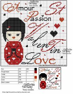 amour - love - st-valentin -  point de croix - cross stitch - Blog : http://broderiemimie44.canalblog.com/