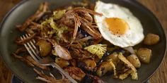 Leftover Pulled Pork Hash With Cabbage