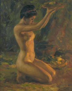 Fernando Amorsolo Y Cueto (1892-1972) Nude, 1953