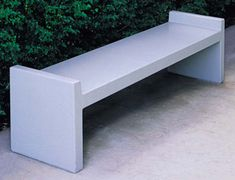 The smooth, straight styling of these backless concrete bench seats have a sleek design and is an affordable way to add to your seating area. Concrete Bench, Precast Concrete, Concrete Furniture, Concrete Design, Outdoor Furniture, Concrete Garden, Urban Furniture, Street Furniture, Outdoor Stools