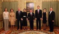 King Felipe VI of Spain and Queen Letizia hosted a dinner banquet in honour of His Majesty King Abdullah II and Queen Rania, on the occasion of His Majesty's working visit to Spain.  Also in presence is Their Majesties King Juan Carlos, Queen Sofia, Infanta Elena and Prince Feisal bin Al Hussein.