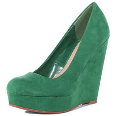 Green wedge court shoes