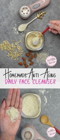 homemade anti-aging daily face cleanser Homemade Face Cleanser, Natural Face Cleanser, Homemade Skin Care, Diy Skin Care, Facial Cleanser, Homemade Beauty, Organic Skin Care, Natural Skin Care, Organic Makeup