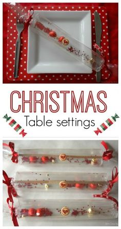 How to Make Transparent Christmas Crackers - a fun craft for kids to decorate the table ready for christmas dinner.