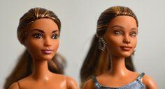 Repainted articulated skateboard Barbie #RepaintedBarbie #OOAKBarbie #CustomBarbie #ArticulatedBarbie #SkateboardBarbie
