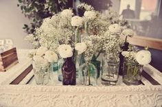 Super budget friendly centerpieces great for rustic weddings