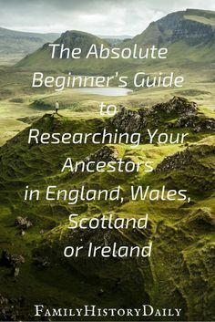 The Absolute Beginner's Guide to UK and Irish Genealogy Research Does your ancestry lead you back to England, Ireland, Scotland or Wales? Use this genealogy beginner's guide get started researching your British Isles ancestors today and grow you Free Genealogy Sites, Genealogy Search, Genealogy Chart, Family Genealogy, Genealogy Forms, Free Genealogy Records, Genealogy Quotes, My Family History, All Family