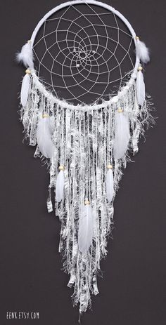 White Dream Catcher Reserve Listing For Colleen by eenk on Etsy