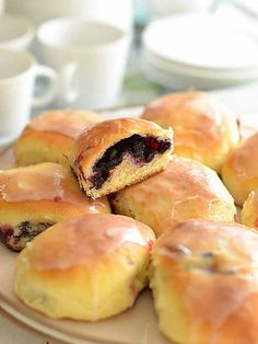 Fruit Recipes, Clean Recipes, Sweet Recipes, Cooking Recipes, Polish Desserts, Polish Recipes, Naan, Breakfast Cookies, No Bake Cake