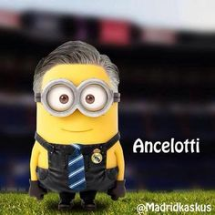 Carlo Minion Ancelotti (manager Real Madrid)