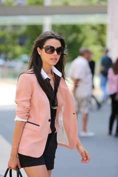Blazer style inspiration via Annabelle from Viva Luxury at NYFW