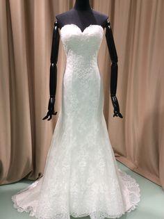 Simple sheath lace mermaid wedding dress