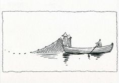 Retro Moomin Card-Fishing with Snufkin-Moomin Postcard Moomin Tattoo, Moomin Valley, Tove Jansson, Pretty Drawings, Anime Art Girl, Traditional Art, Art Sketches, Finland, How To Draw Hands