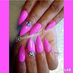 Raeanna Nails. Pink Stiletto Nails.  Houston, Texas