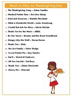 Thanksgiving Day Playlist - Harris Sisters GirlTalk