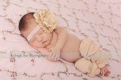 Baby Girl Headband Newborn Flower by AvryCoutureCreations on Etsy, $10.95
