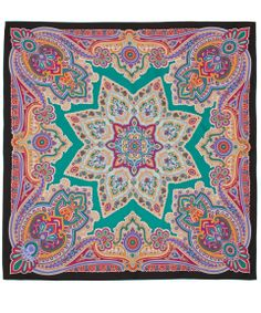 Liberty London Green Star Paisley Silk Scarf | Scarves by Liberty London | Liberty.co.uk