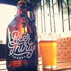 Beer thirty growler full