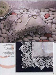 Drawn Thread, Ring Pillow Wedding, Point Lace, Needle Lace, Lace Shorts, Diy And Crafts, Wedding Rings, Embroidery, Crochet