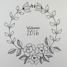 Awesome Most Popular Embroidery Patterns Ideas. Most Popular Embroidery Patterns Ideas. Hand Embroidery Patterns Free, Embroidery Flowers Pattern, Embroidery Art, Flower Patterns, Bordado Floral, Buch Design, Wreath Drawing, Floral Drawing, Scrapbook