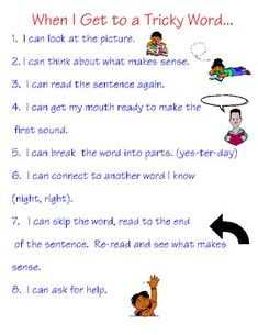 {freebie} I found this very practical chart for what to do when you get stuck on a word:)