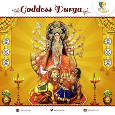 The #Devi #Puranas state that #Durga is the warrior manifestation of Goddess #Adishakti. #Durga means the Invincible One.
