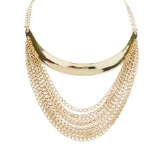 Punch Chain Collar Necklace Gold up to 70% off | Jewelry | Little Black Bag