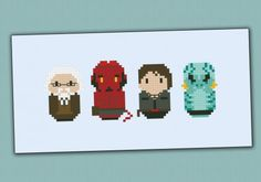 Hellboy cross stitch pattern