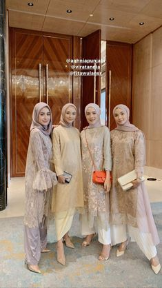 bridesmaid dresses hijab ~ bridesmaid dresses - bridesmaid dresses mismatched - bridesmaid dresses long - bridesmaid dresses hijab - bridesmaid dresses short - bridesmaid dresses blue - bridesmaid dresses with sleeves - bridesmaid dresses fall Kebaya Muslim, Kebaya Modern Hijab, Model Kebaya Modern, Kebaya Hijab, Kebaya Dress, Modern Hijab Fashion, Muslim Fashion, Look Fashion, Dress Brokat Muslim