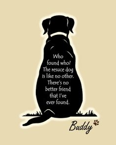 Rescue Dog Print Personalize customize by TheShopSisters on Etsy,