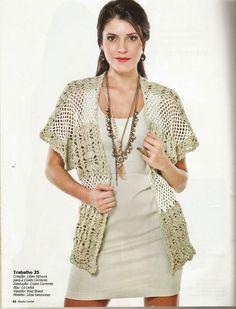 Mania-de-Tricotar: Colete em crochê  http://mania-de-tricotar.blogspot.com.br/