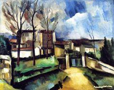 Maurice de Vlaminck - Houses On The Outskirts Of Paris