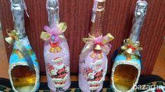 Декорирование бутылок для праздников. Удивите родных и друзей необычным эксклюзивным подарком сделанным специально для них (ручная работа). Можно...