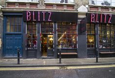 Blitz, London. Blitz is a treasure trove of vintage clothing and accessories. Take the time to scour the racks and you're sure to find that one-of-a-kind creation to compliment any look.