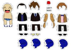 Carg's Doodles: Doctor Who Paper Dolls Doctor Who Party, Doctor Who Tumblr, Doodles, Don't Blink, Dr Who, Superwholock, Paper Dolls, Fangirl, Geek Stuff