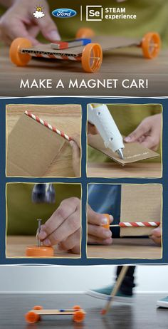 "Fun STEM project for Exploring Creation with Chemistry and Physics: LittleThings teaming up with Ford presents ""Make A Magnet Car"""