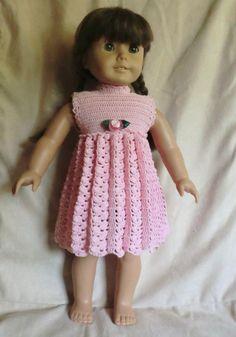 164 Empire Waist Dress Crochet Pattern for por barbsdolls en Etsy