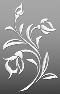 Flowers – Cut Outs – Art & Islamic Graphics Flowers – Cut Outs – Art & Islamic Graphics Stencil Patterns, Stencil Painting, Stencil Designs, Fabric Painting, Embroidery Patterns, Flower Cut Out, Cut Out Art, Motif Art Deco, Paper Art